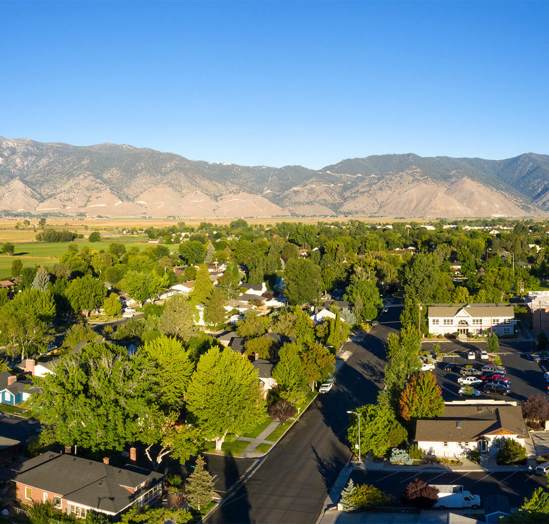 Drone view of parts of Douglas County