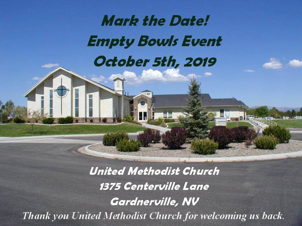 Empty Bowls will be held at Carson Valley United Methodist Church